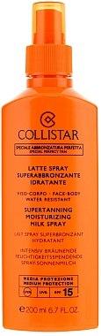 Lait spray superbronzant hydratant - Collistar Supertanning Moisturing Milk Spray SPF 15 — Photo N2