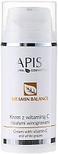 Parfums et Produits cosmétiques Crème à la vitamine C et raisins blancs pour visage - APIS Professional Vitamin Balance Cream With Vitamin C and White Grapes