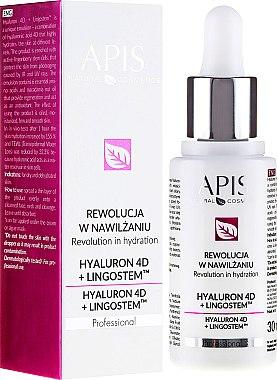 Emulsion hydratante pour visage - APIS Professional 4D Hyaluron + Lingostem