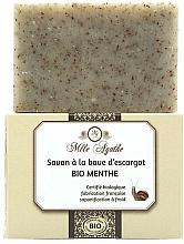 Parfums et Produits cosmétiques Savon bio à la bave d'escargot, Menthe - Mlle Agathe