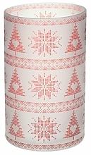Parfums et Produits cosmétiques Porte-jarre pour bougies - Yankee Candle Red Nordic Frosted Glass Jar Sleeve