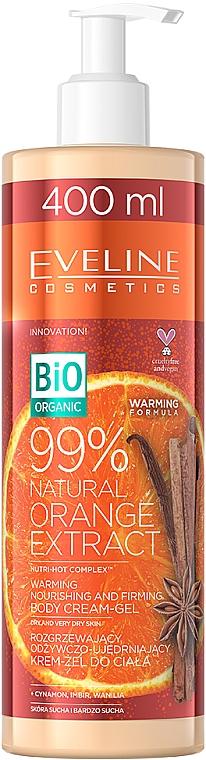 Gel-crème bio chauffant à l'extrait d'orange pour corps - Eveline Cosmetics Bio Organic 99% Natural Orange Extract