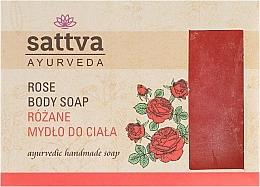 Parfums et Produits cosmétiques Savon artisanal à la rose pour corps - Sattva Hand Made Soap Rose