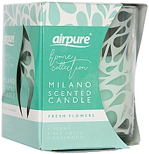 Parfums et Produits cosmétiques Bougie parfumée Fleurs - Airpure Milano Scented Candle Home Collection Fresh Flowers