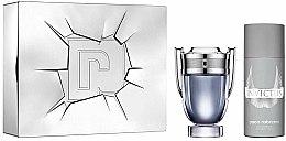 Parfums et Produits cosmétiques Paco Rabanne Invictus - Coffret cadeau (eau de toilette/100ml + déodorant spray/150ml)