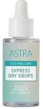Parfums et Produits cosmétiques Gouttes de séchage pour vernis à ongles - Astra Make-up Sos Nails Care Express Dry Drops