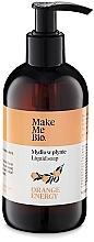Parfums et Produits cosmétiques Savon liquide doux à l'huile de macadamia - Make Me Bio Orange Energy Soap