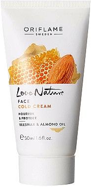 Crème protectrice à la cire d'abeille et huile d'amande pour visage - Oriflame Love Nature Face Cold Cream — Photo N1