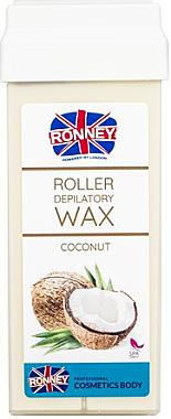 Cartouche de cire à épiler roll-on, noix de coco - Ronney Wax Cartridge Coconut