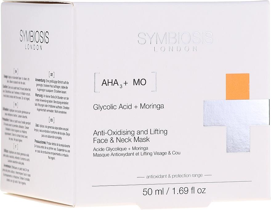 Masque antioxydant à l'acide glycolique pour visage et cou - Symbiosis London Anti-oxidising And Lifting Face & Neck Mask