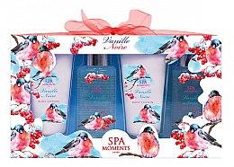 Parfums et Produits cosmétiques Spa Moments Vanille Noire - Set(gel douche/100ml + gel douche/100ml + lotion corporelle/60ml + lotion corporelle/60ml)