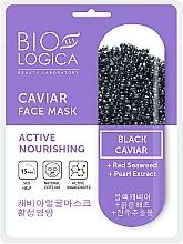 Parfums et Produits cosmétiques Masque tissu au caviar noir pour visage - Biologica Caviar
