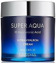 Parfums et Produits cosmétiques Crème à l'acide hyaluronique pour visage - Missha Super Aqua Ultra Hyalron Cream