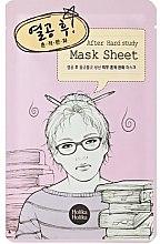 Parfums et Produits cosmétiques Masque tissu à l'extrait de calendula et d'arbre à thé pour visage - Holika Holika After Mask Sheet Hard Study
