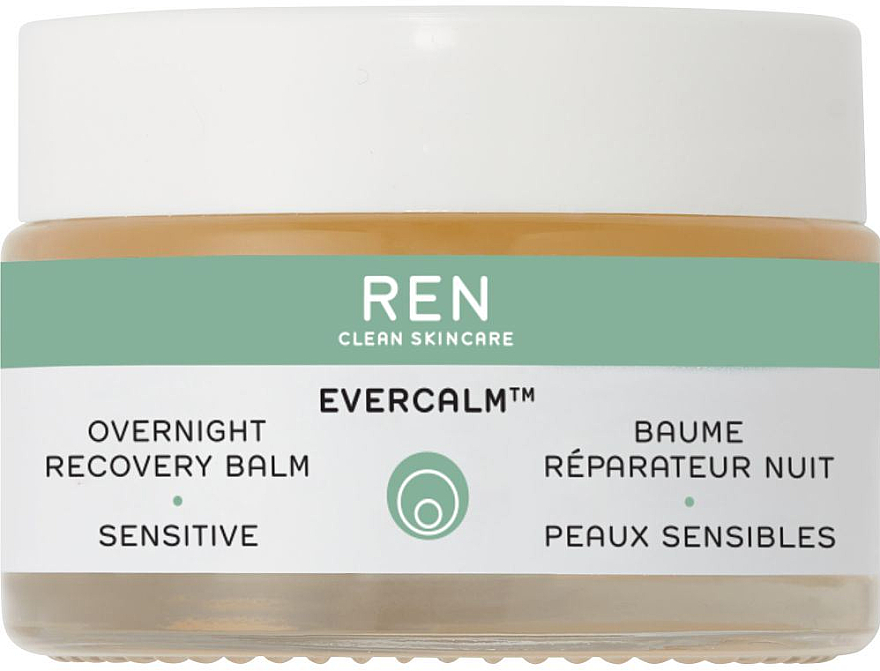 Baume de nuit apaisant à l'huile d'olive et amande pour visage - Ren Evercalm