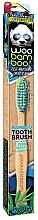 Parfums et Produits cosmétiques Brosse à dents souple, bleu et vert - Woobamboo Toothbrush Zero Waste Adult Bamboo Soft Bristle