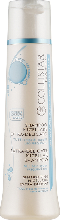 Shampooing multivitamines extra-délicat tous types de cheveux, usage quotidien - Collistar Extra-Delicate Micellar Shampoo — Photo N1