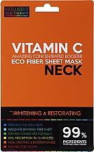 Parfums et Produits cosmétiques Masque tissu à la vitamine C pour cou - Beauty Face IST Whitening & Restorating Neck Mask Vitamin C
