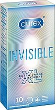 Parfums et Produits cosmétiques Préservatifs, 10 pcs - Durex Invisible Extra Large