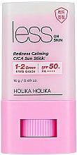 Parfums et Produits cosmétiques Stick solaire apaisant léger SPF 50+ pour le visage - Holika Holika Less on Skin Redness Calming CICA Sun Stick SPF50+