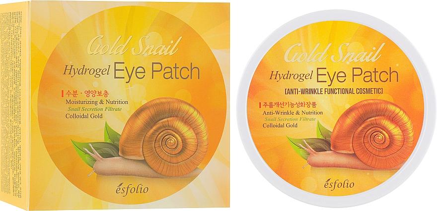 Patchs hydrogel nourrissants au filtrat de bave d'escargot pour sous les teux - Esfolio Gold Snail Hydrogel Eye Patch
