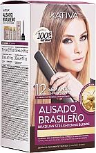 Parfums et Produits cosmétiques Kativa Alisado Brasileno Straighten Blonde - Kit de lissage pour cheveux blonds