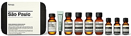 Parfums et Produits cosmétiques Coffret cadeau - Aesop Sao Paulo Travel Essentials Kit (shm/50ml + cond/50ml + sh/gel/50ml + balm/50ml + m/wash/50ml +t/paste/10ml + toner/15ml + serum/15ml)
