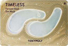 Parfums et Produits cosmétiques Patchs au filtrat de bave d'escargot contour des yeux - Tony Moly Timeless Ferment Snail Eye Mask