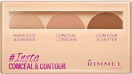 Parfums et Produits cosmétiques Palette de contouring - Rimmel Insta Conceal & Contour Palette