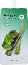 Parfums et Produits cosmétiques Masque de nuit à l'extrait d'aloe vera - Missha Pure Source Pocket Pack Aloe