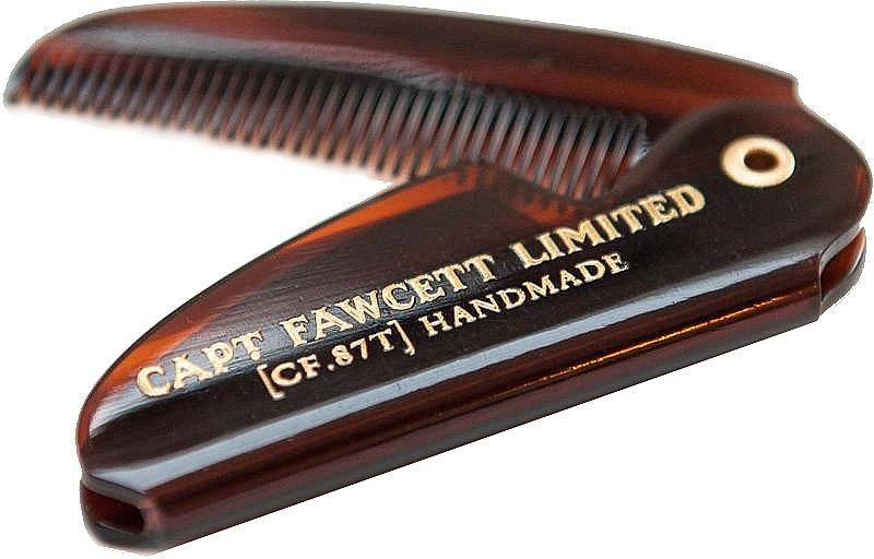 Captain Fawcett Sandalwood - Set (cire à moustache/15ml + peigne à moustache/1pcs) — Photo N5