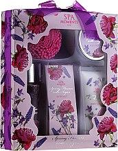 Parfums et Produits cosmétiques Set soin visage - Spa Moments Lawender (gel douche/100ml + lotion corps/60ml + huile corps/50 + sels/50g)