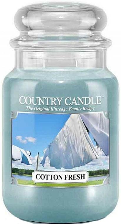 Bougie parfumée en jarre, Coton frais - Country Candle Cotton Fresh — Photo N2