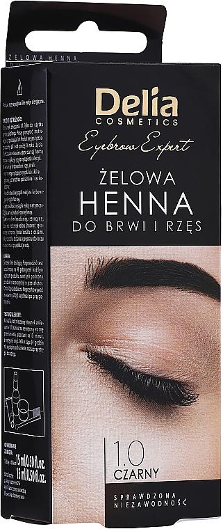 Teinture gel sourcils et cils, noire - Delia Eyebrow Tint Gel ProColor 1.0 Black