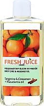 Parfums et Produits cosmétiques Huile de soin et de massage à la mandarine, cannelle et macadamia - Fresh Juice Energy Tangerine&Cinnamon+Macadamia Oil