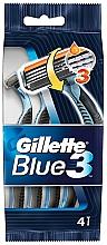 Parfums et Produits cosmétiques Rasoirs jetables, 4pcs - Gillette Blue 3