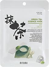 Parfums et Produits cosmétiques Masque tissu à l'extrait de thé vert pour visage - Mitomo Green Tea Essence Mask