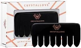 Parfums et Produits cosmétiques Peigne de massage en obsidienne pour cuir chevelu - Crystallove