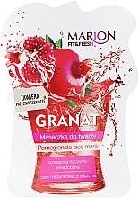 Parfums et Produits cosmétiques Masque à la grenade et vitamine C pour visage et décolleté - Marion Fit & Fresh Pomegranate Face Mask