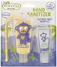 Parfums et Produits cosmétiques Jack N' Jill Hand Sanitizer Monkey - Set (gel désinfectant pour mains/2x29 ml + étui)
