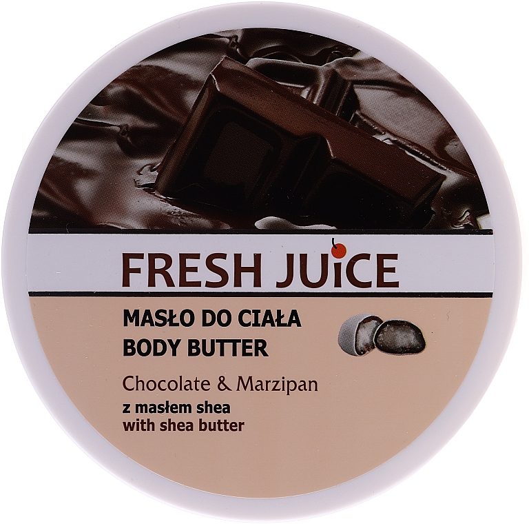 Beurre pour corps Chocolat et Massepain - Fresh Juice Body Butter Chocolate & Marzipan With Shea Butter