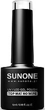 Parfums et Produits cosmétiques Top coat sans couche collante pour vernis semi-permanent - Sunone UV/LED Gel Polish Top Mat No Wipe