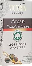 Parfums et Produits cosmétiques Bandes de cire à l'huile d'argan pour corps et jambes - Victoria Beauty Delicate Skin Care Legs & Body Waxing Strips Argan