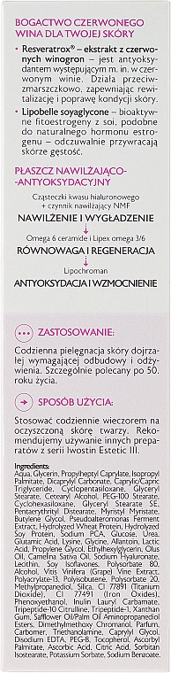 Crème de nuit à l'extrait de raisin rouge - Iwostin Estetic 3 Restorative Night Cream — Photo N3