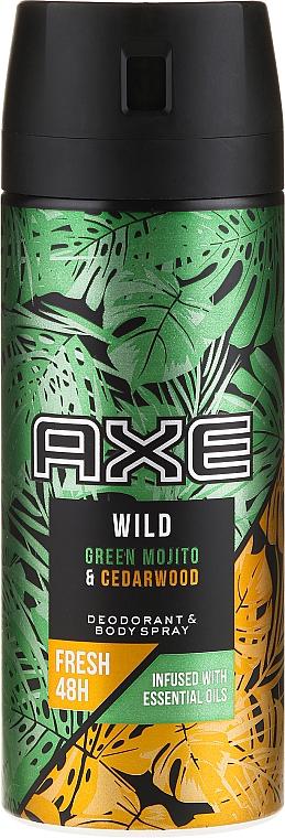 Déodorant spray, Mojito et Bois de Cèdre - Axe Wild Green Mojito & Cedarwood