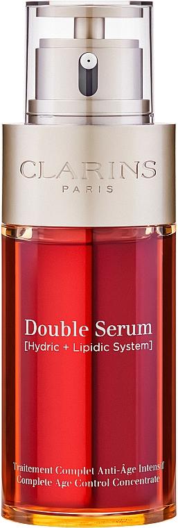 Double sérum à l'extrait de cacao et kiwi pour visage - Clarins Double Serum Complete Age Control Concentrate