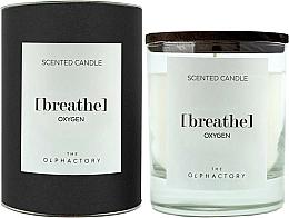 Parfums et Produits cosmétiques Bougie parfumée, design noir - Ambientair The Olphactory Black Design Breathe Oxygen