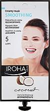 Parfums et Produits cosmétiques Masque-crème à la noix de coco et rose pour visage - Iroha Nature Smoothing Coconut Creamy Mask