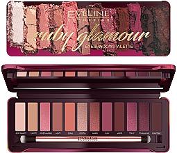 Parfums et Produits cosmétiques Palette de fards à paupières - Eveline Cosmetics Ruby Glamour Eyeshadow Palette