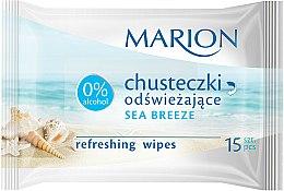 Parfums et Produits cosmétiques Lingettes humides rafraîchissantes à l'arôme de brise marine, 15 pcs - Marion